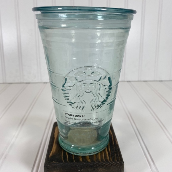Starbucks green recycled glass tumbler